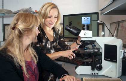 Olympus transmitted light microscope with image acquisition